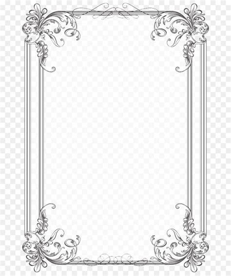 border design black  white vintage border png
