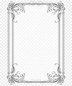 Border Design Black And White - Vintage Border Png Download - 740 1070