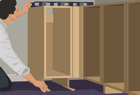 how to hang kitchen cabinets base cabinet installation guide at the home depot