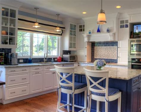 white kitchen with blue backsplash blue and white kitchen houzz 1832