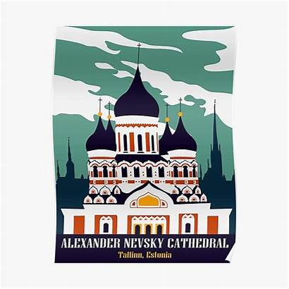 Tallinn Poster Nevsky Alexander Posters Estonia Cathedral