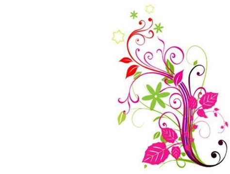 floral corner fantasy abstract background wallpapers