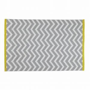tapis a poils courts en coton gris 140 x 200 cm wave With tapis gris poil court
