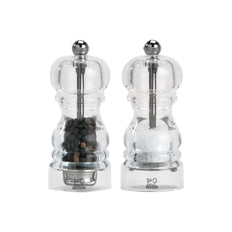 Peugeot Salt And Pepper Mills Set by Peugeot Nancy Acrylic Salt Pepper Mill Set 4 75 Inch