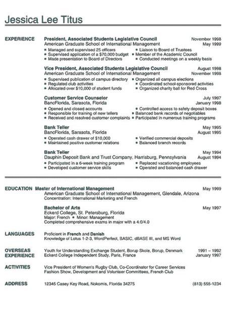 college international college resume college resume