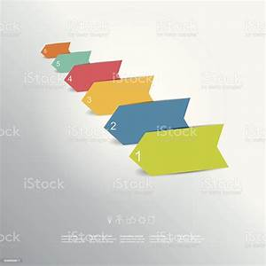 Colorful Arrows Diagram With Text Fields Infographic