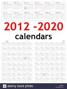 Printable 2017 2018 2019 2020 Year Calendar