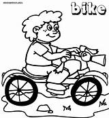 Bike Coloring Pages Coloringway sketch template