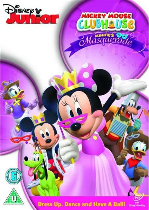 mickey mouse clubhouse minnies masquerade dvd zavvi uk