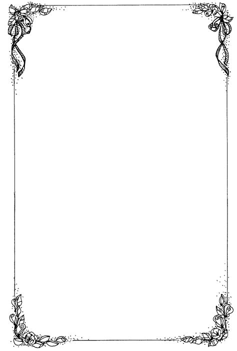 funeral invitation template simple page border designs cliparts co