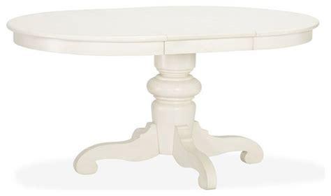 tivoli extending pedestal dining table almond white
