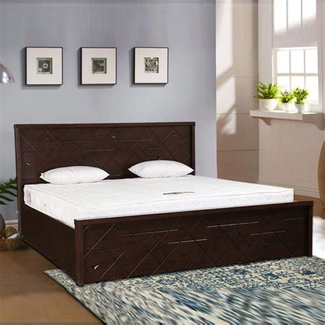 buy starlight rubber wood hydraulic storage queen size bed