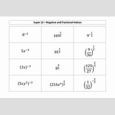 Fractional And Negative Indices By Mremaths  Teaching Resources