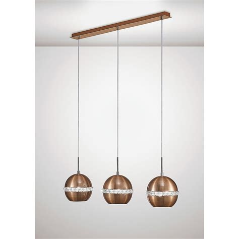 ceiling light bar diyas andrea 3 light ceiling bar pendant in copper and