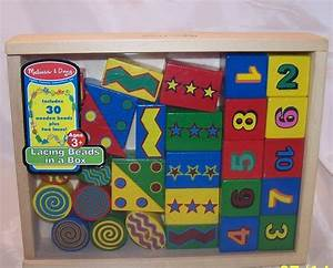 melissa and doug 30 wooden lacing beads in box ages 3 up With melissa and doug wooden letter beads