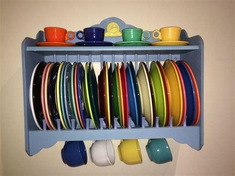 fiesta plate rack fiestaware shelfie atfiestadishes fiesta plates fiestaware plate racks