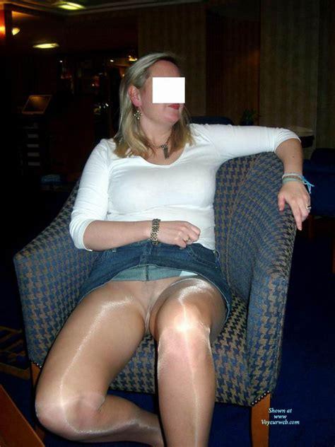 milf flashing pussy through pantyhose july 2008 voyeur web hall of fame