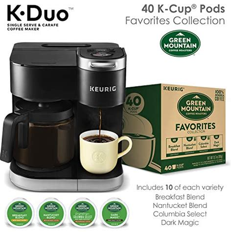 Being one of the most popular coffee makers on the market, you can expect to have a consistent taste and easy machine. Keurig K-Duo Coffee Maker, Single Serve K-Cup Pod and 12 Cup Carafe Brewer, with Green Mountain ...