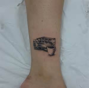 Book Tattoo On Ankle
