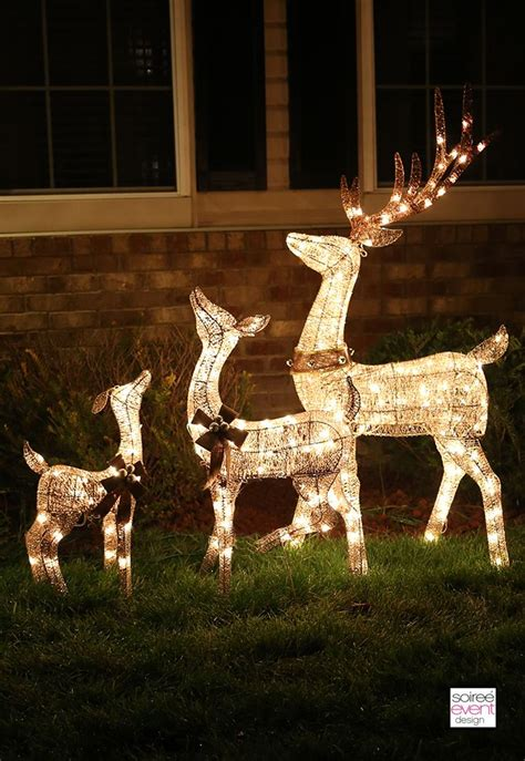 light  reindeer outdoor decorations christmas