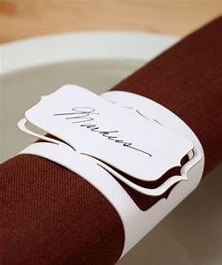 50 personalizable with guest39s name paper napkin rings With paper napkin rings for wedding