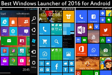 Best Android Launchers Top Best Windows Launcher Of 2016 For Android 5 0 6 0 Phone