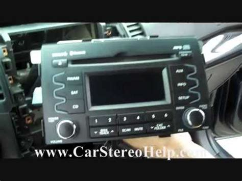 How Kia Sorento Troubleshooter Stereo Removal