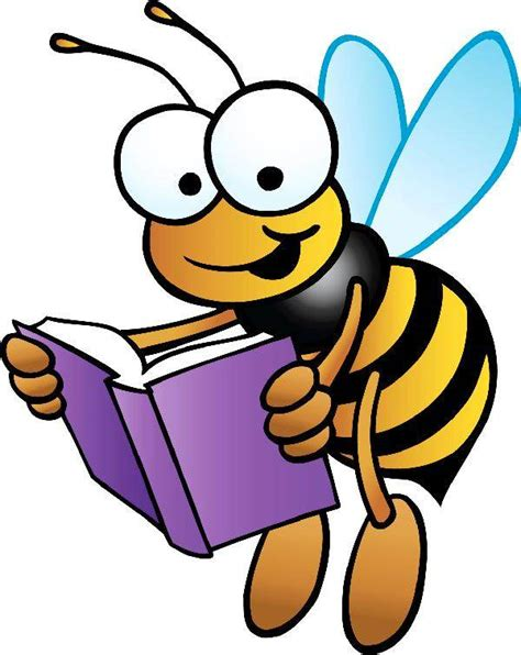 Image result for image of bee reading a book