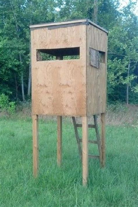 plans  wood tower stand shooting house deer