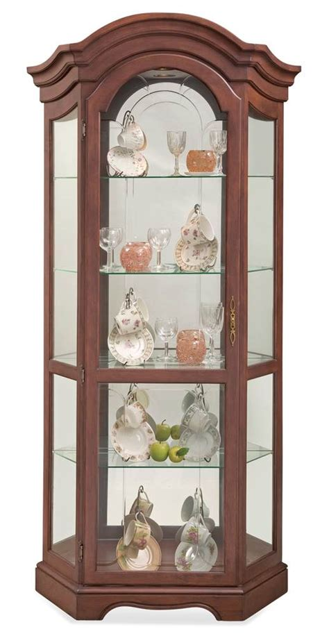 Philip Reinisch Oak Curio Cabinet by Philip Reinisch Lighthouse Classic Oak Corner Curio