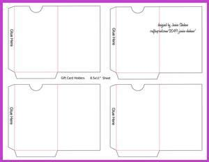 gift or credit card envelope template on craftsuprint view now janice shehan