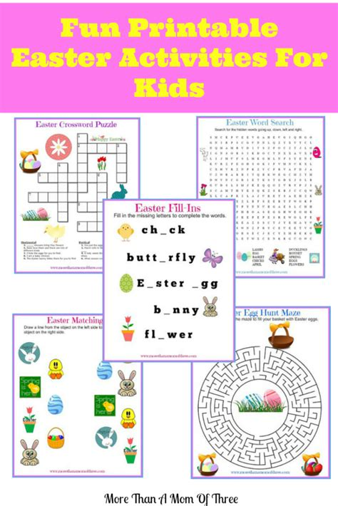 easter activities for easter printables archives