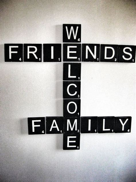 scrabble wall art  sign  friends family