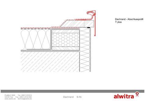 flachdach ohne attika flachdach details dachrand beim flachdach alwitra