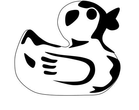rubber duck clipart black and white black white and duck clipart clipart kid
