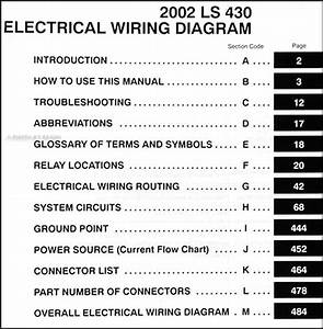 2002 Lexus Ls 430 Wiring Diagram Manual Original