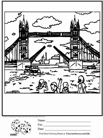 London Tower Coloring Pages Bridge English Colouring