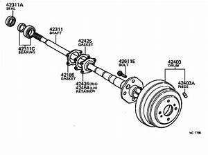 Toyota Celica Wheel Bearing  Rear   Bearing  Axle Shaft