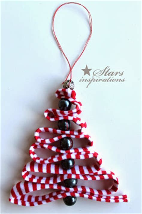 diy ribbon bead christmas tree ornaments beesdiy com