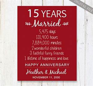 15th anniversary gift 15 years wedding anniversary With 15 wedding anniversary gift