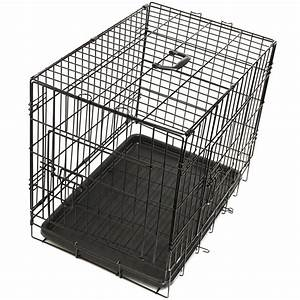 Oxgord pet kennel cat dog folding ss steel crate animal for Dog kennel crates cages