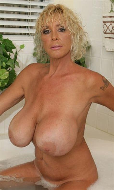 sexy blonde big tits gilf