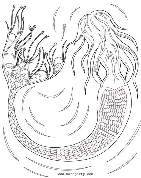 traceable  coloring page mermaid   art sherpa