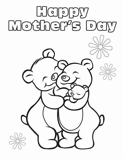 Coloring Mother Pages Mothers Mom Flowers Parents