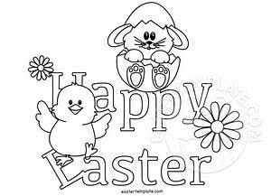 Happy Easter coloring page | Easter Template
