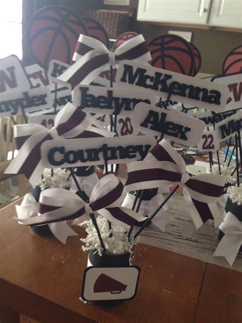 cheer decorations cheer cheerleading football basketball dinner banquet
