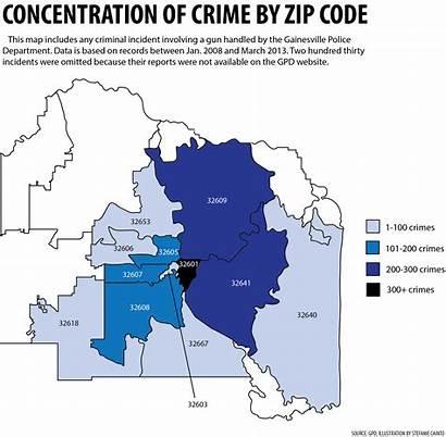 Gainesville Fl Zip Map Alachua Gun Crime