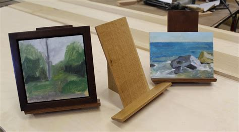 art lesson     easel  small painting