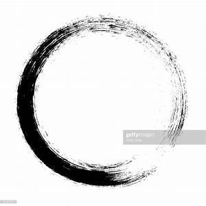 Enso Circular Brush Stroke Vector Art