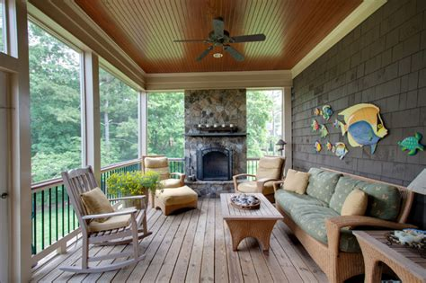 ceiling fan for screened porch lowes fireplace screen porch rustic with ceiling fan